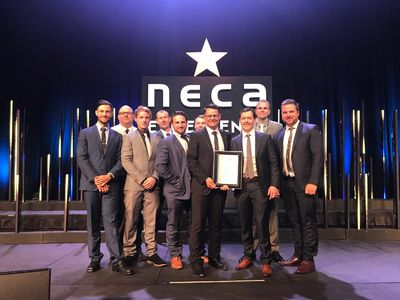 Staff at the 2017 NECA Excellence Awards
